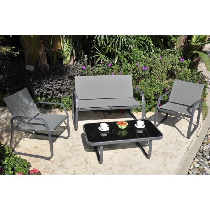 aucune salon de jardin macadamia 4 places table basse 266883. Black Bedroom Furniture Sets. Home Design Ideas