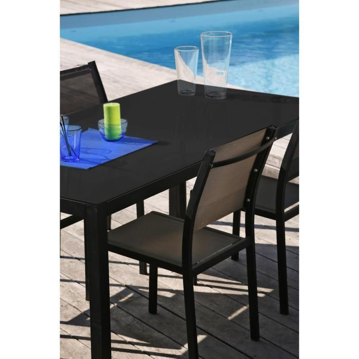 Aucune salon de jardin table 160 6 chaises aluminium for Chaise salon de jardin aluminium