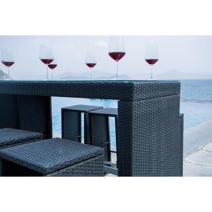 aucune set bar de jardin riverside 7 pieces alu r sine tress e 343121. Black Bedroom Furniture Sets. Home Design Ideas
