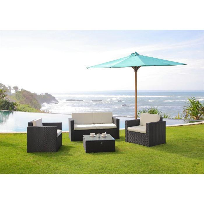 beautiful bali salon de jardin resine tressee acier gris. Black Bedroom Furniture Sets. Home Design Ideas