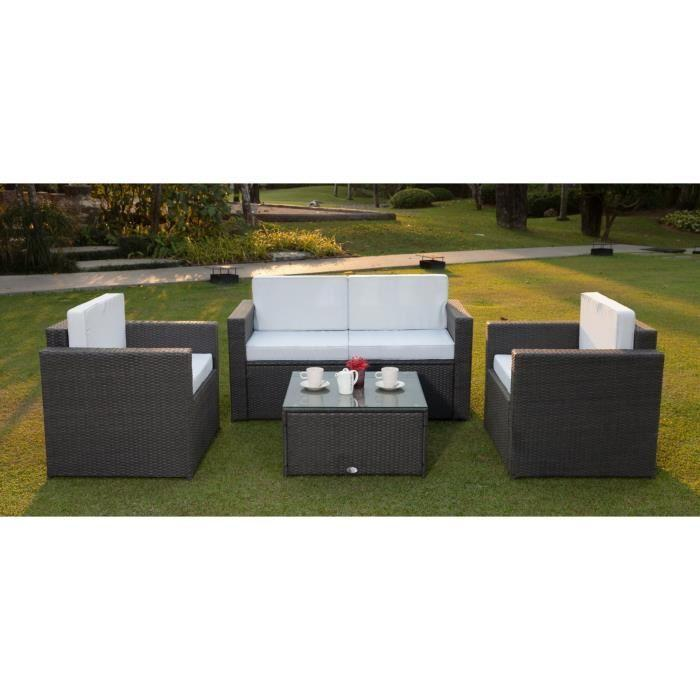 bali salon de jardin r sine tress e acier gris anthracite 269084. Black Bedroom Furniture Sets. Home Design Ideas