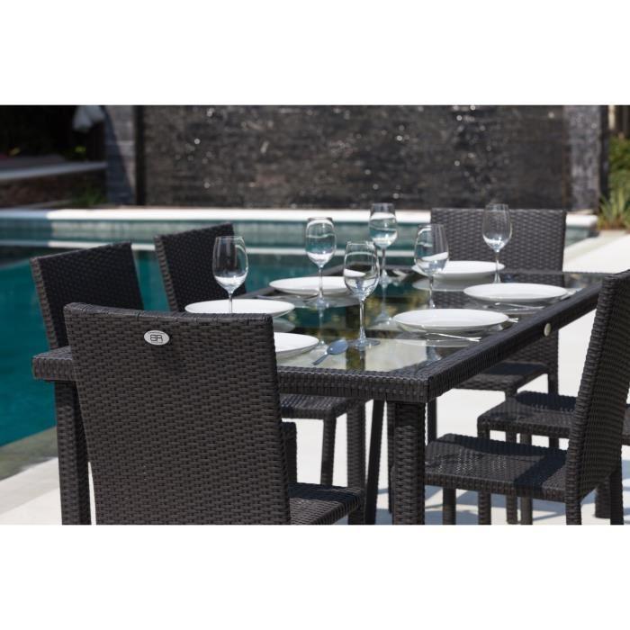 Table Et Chaises De Jardin En Rsine Tresse. Salon De Jardin Ensemble ...