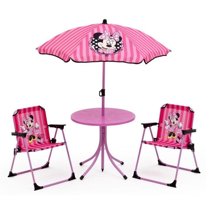 minnie ensemble de jardin camping enfant table et 2 chaises 312418. Black Bedroom Furniture Sets. Home Design Ideas