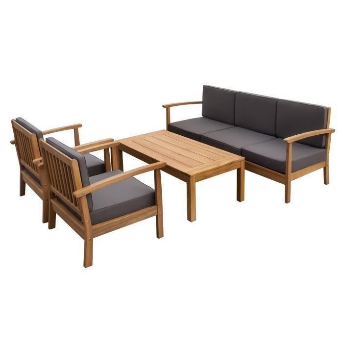 finlandek salon de jardin 5 places en eucalyptus levata 356014. Black Bedroom Furniture Sets. Home Design Ideas