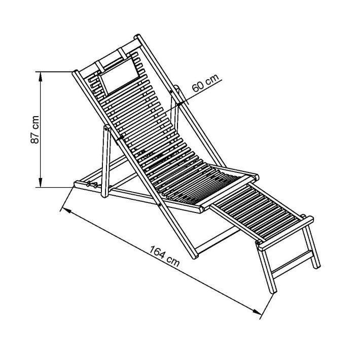 finlandek transat en eucalyptus avec repose pieds lampo. Black Bedroom Furniture Sets. Home Design Ideas