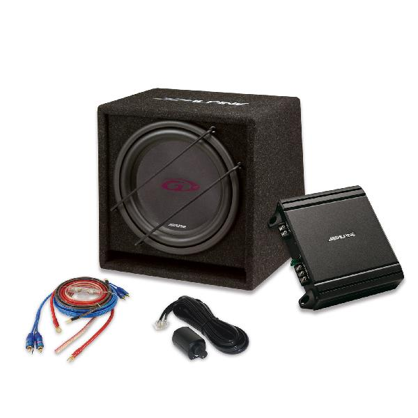 SBG-30KIT - Ensemble Caisson Bass Reflex + Subwoofer 30cm + Ampli 550W Max - 250W RMS + kit de cablage