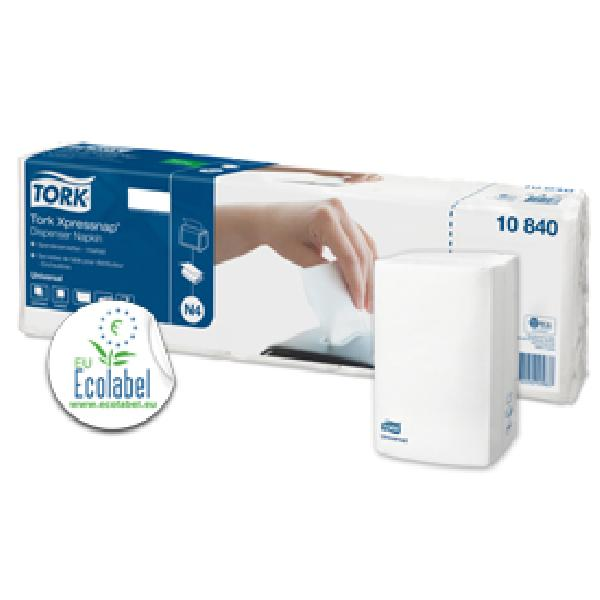 Serviettes de table enchevetrees Tork 40x225 -Carton de 9000-