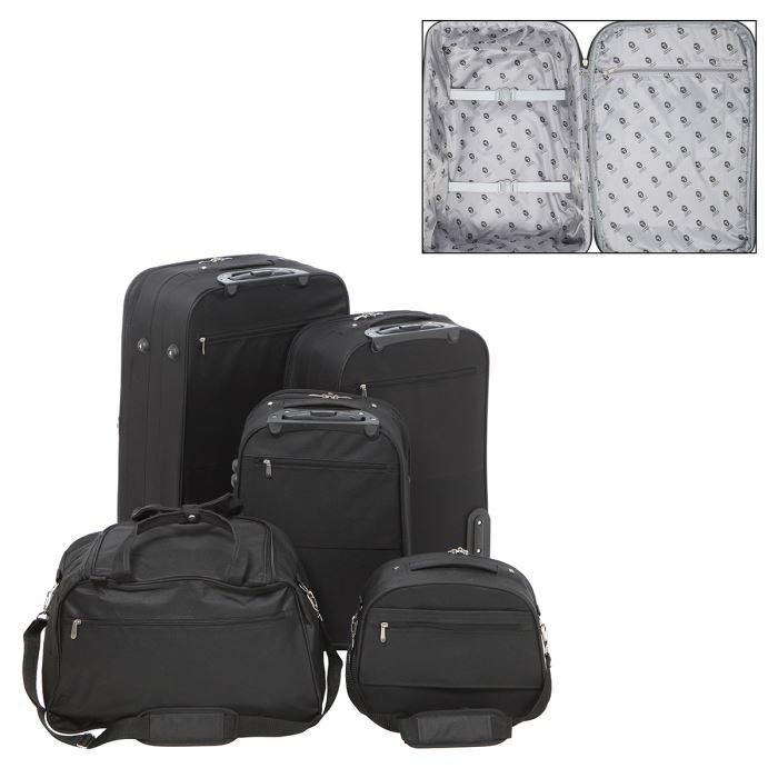 tantine et compagnie set 3 valises sac vanity 307254. Black Bedroom Furniture Sets. Home Design Ideas