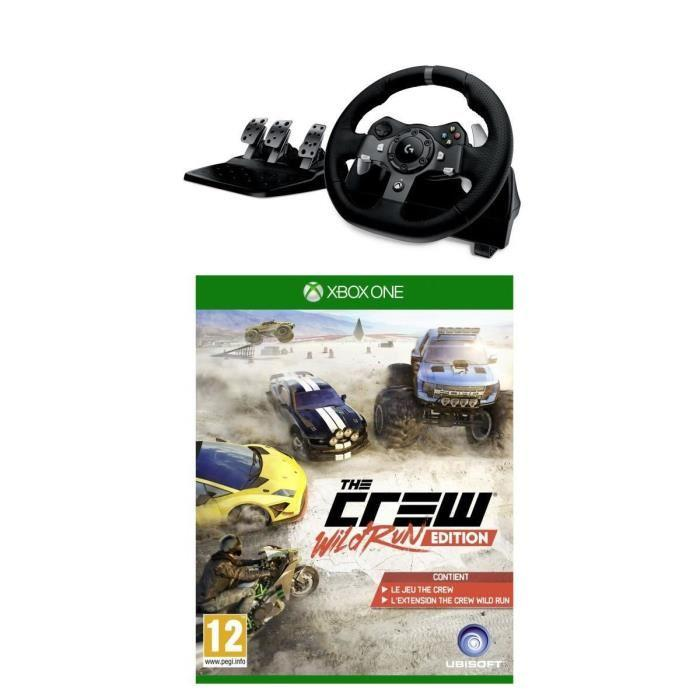 ubisoft pack volant g920 the crew wild run jeu xbox one 289905. Black Bedroom Furniture Sets. Home Design Ideas