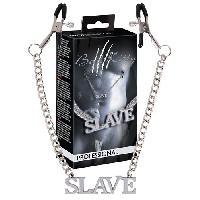 Soumission Bad Kitty - Chaine Slave avec pinces pour mamelons - Argent -