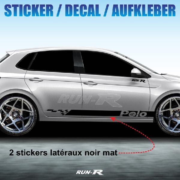 Sticker 992 TUNING STRIPE Volkswagen POLO noir mat