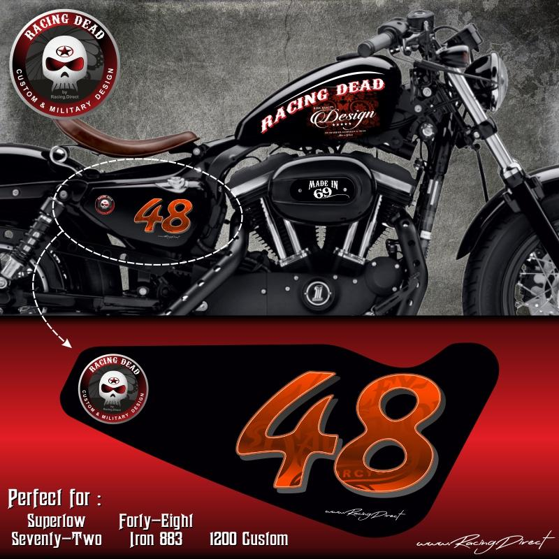 stickers harley run r stickers harley 48 orange 305686. Black Bedroom Furniture Sets. Home Design Ideas