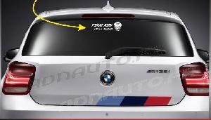 Stickers Monocouleurs ADNAuto - 1 sticker TEAM ADN DRIFT SQUAD avec Logo - 20 cm - Blanc