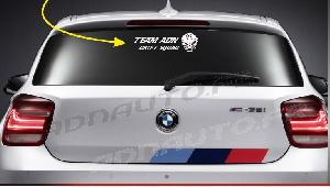 Stickers Monocouleurs ADNAuto - 1 sticker TEAM ADN DRIFT SQUAD avec Logo - 30 cm - Blanc