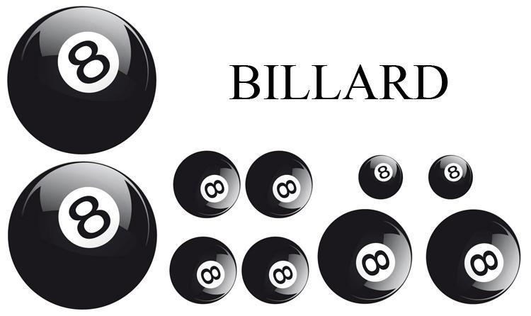 adnauto set adhesifs element billard noir et blanc. Black Bedroom Furniture Sets. Home Design Ideas