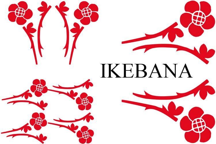 Adnauto set adhesifs element ikebana rouge promo adn for Deco promo