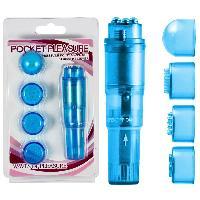 Stimulateurs Eros - Stimulateur vibrant Pocket Rocket bleu