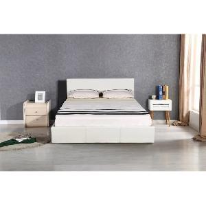 aucune altess lit coffre adulte sommier 160x200cm blanc 303502. Black Bedroom Furniture Sets. Home Design Ideas