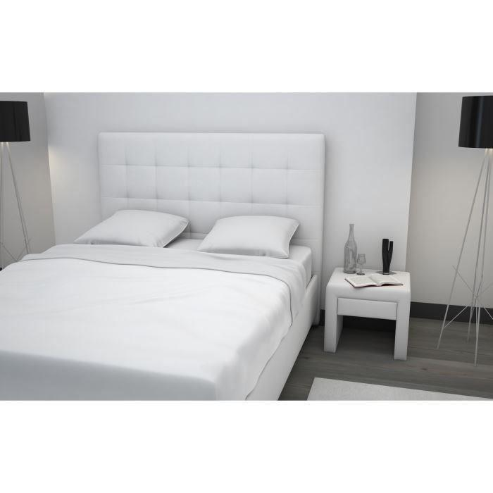 finlandek chambre finlandek lit adulte tyyli 160x200 blanc 366630. Black Bedroom Furniture Sets. Home Design Ideas