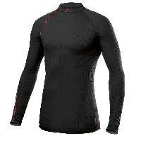 T-shirts Craft - Be Active Extreme - Ras du Cou - Manches longues - Noir details rouges - Taille S