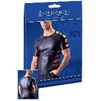 T-Shirts Sexy Sven Joyment - Tee Shirt Ajoure - XL Noir