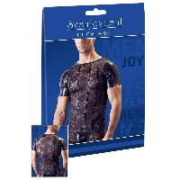 T-Shirts Sexy Sven Joyment - Tee Shirt Noir en Dentelle - S