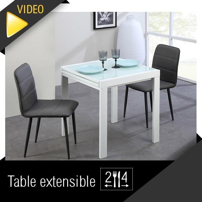 Aucune capri table extensible blanche 70 a 140cm 267484 - Table extensible chaises ...