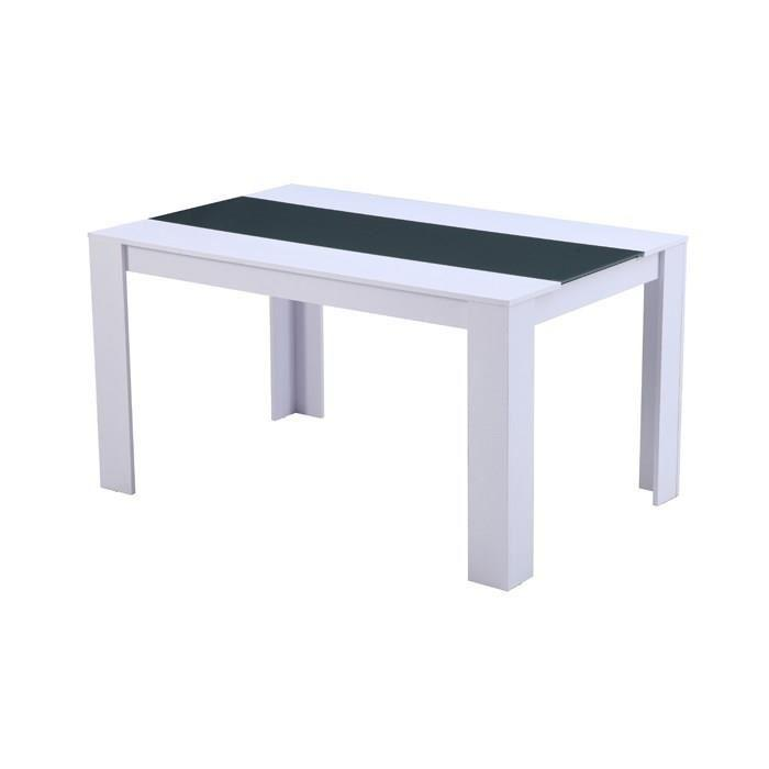 aucune damia table de sejour 140 cm blanc gris 267488. Black Bedroom Furniture Sets. Home Design Ideas