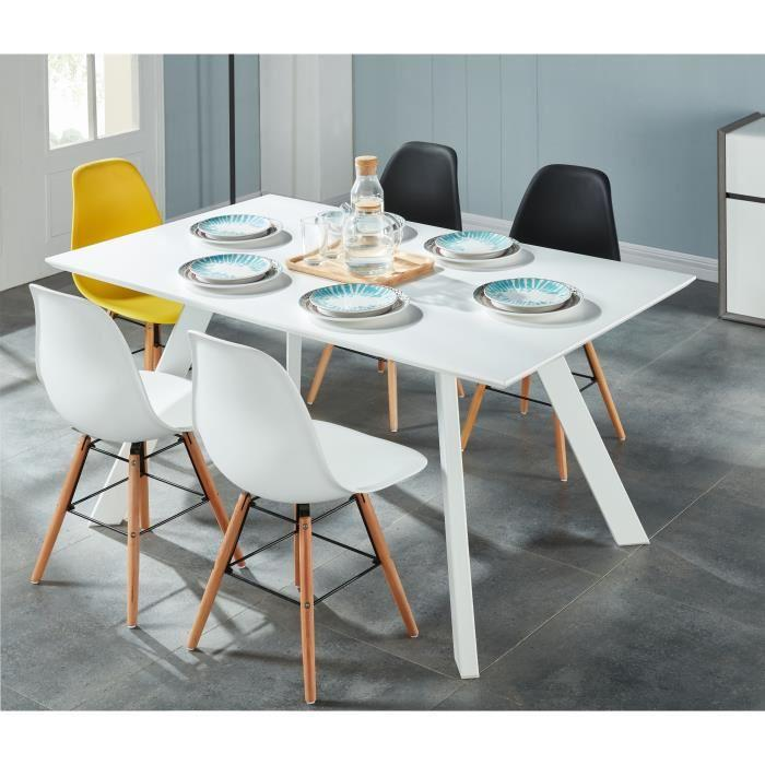 aucune hampton table a manger 6 personnes 150x90 cm. Black Bedroom Furniture Sets. Home Design Ideas