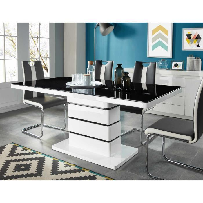 lucia table a manger 8 personnes 180x90 cm laqu blanc. Black Bedroom Furniture Sets. Home Design Ideas