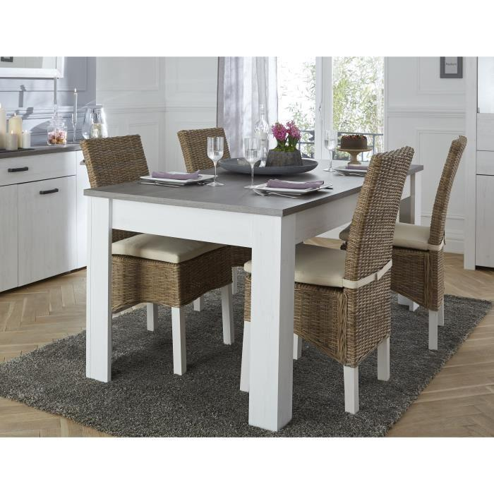 Marquis table a manger extensible 4 a 8 personnes 170 for Table 4 personnes dimensions