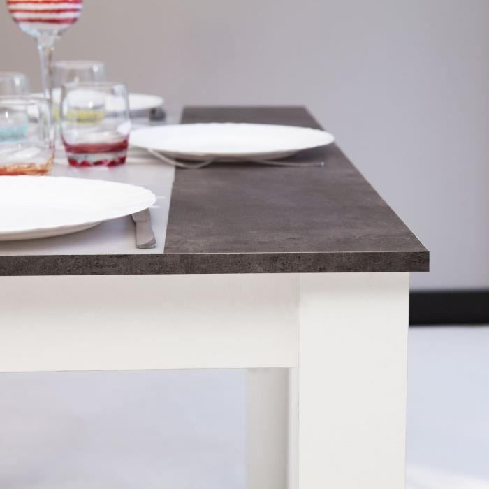 aucune pepper table a manger pieds blancs plateau beton 256211. Black Bedroom Furniture Sets. Home Design Ideas