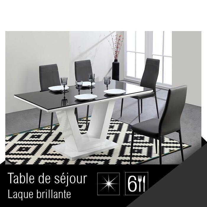 aucune queen table de s jour 150 cm noir blanc 267512. Black Bedroom Furniture Sets. Home Design Ideas