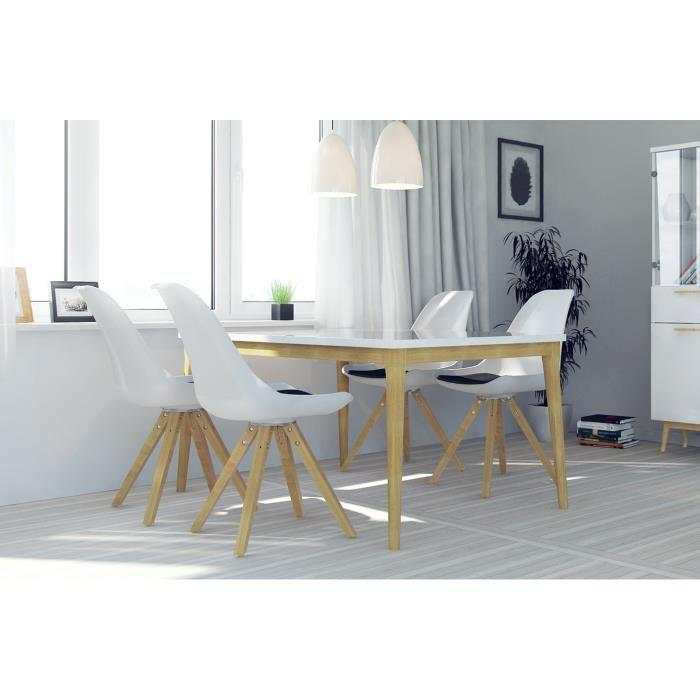 aucune retro table a manger 6 personnes 165x76 cm. Black Bedroom Furniture Sets. Home Design Ideas
