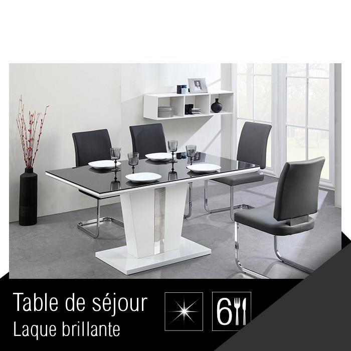aucune trevise table de s jour 150 cm blanche 267526. Black Bedroom Furniture Sets. Home Design Ideas