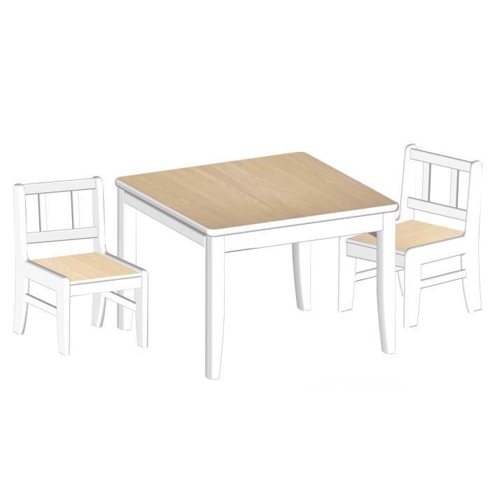 delta children delta table enfant et 2 chaises en bois. Black Bedroom Furniture Sets. Home Design Ideas