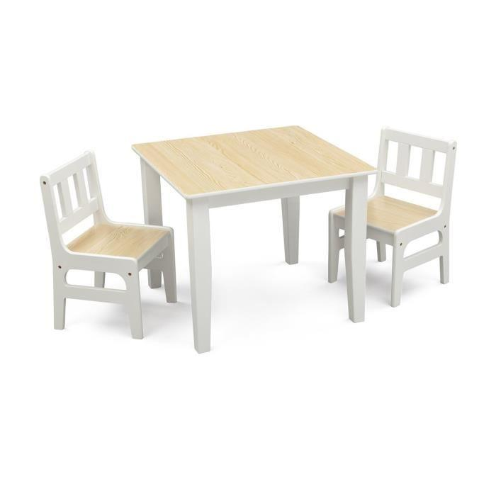 Delta children delta table enfant et 2 chaises en bois for Table en bois et chaise