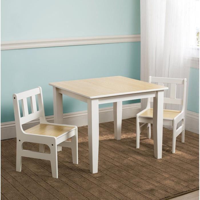 Delta children delta table enfant et 2 chaises en bois - Table et chaise enfant bois ...