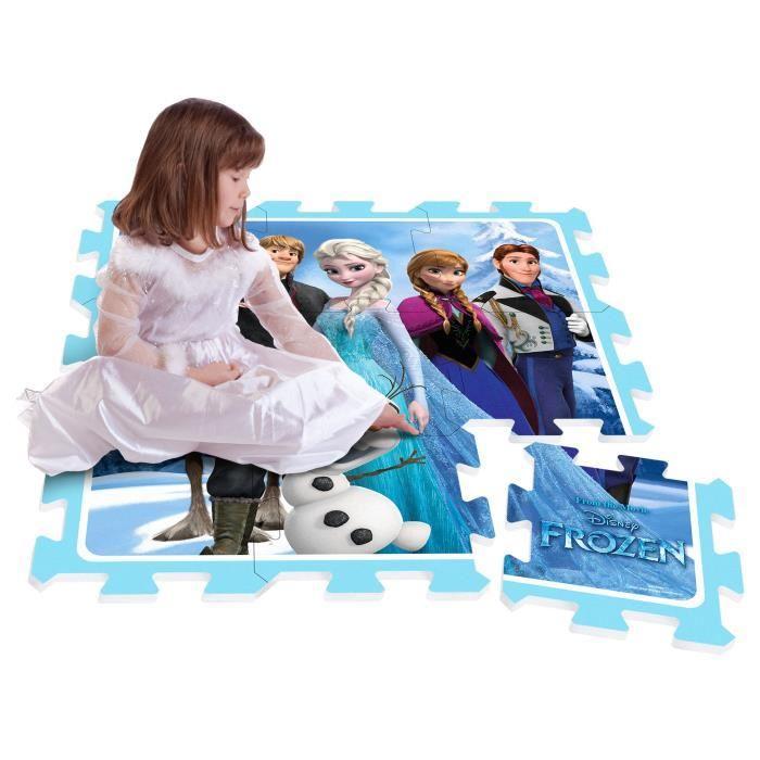 Stamp la reine des neiges tapis puzzle mousse 9pcs avec sacoche 379115 Tapis reine des neiges