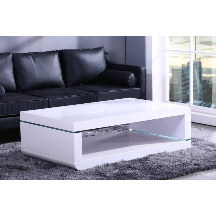 aucune biwan table basse avec clairage led 140cm blanc laqu 292370. Black Bedroom Furniture Sets. Home Design Ideas