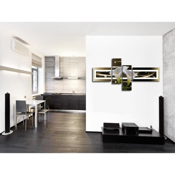 aucune arum tableau multi panneaux abstrait 140x70 cm 267537. Black Bedroom Furniture Sets. Home Design Ideas