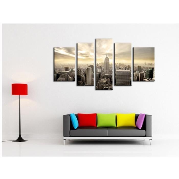 aucune city tableau multi panneaux 110x60cm 256123. Black Bedroom Furniture Sets. Home Design Ideas
