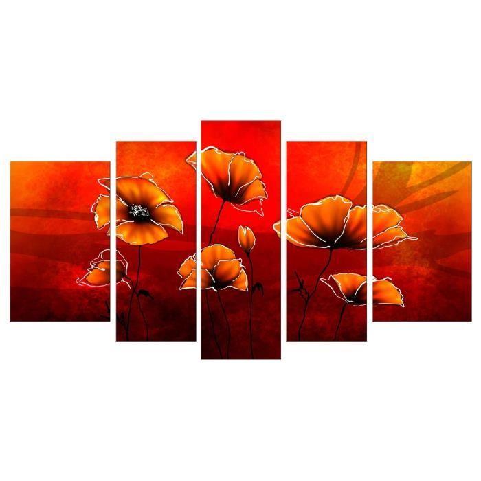 Aucune coquelicots tableau multi panneaux 110x60 cm 267544 - Tableau multi panneaux ...