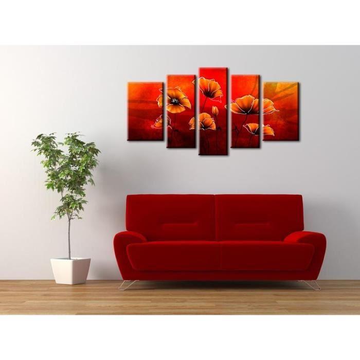 aucune coquelicots tableau multi panneaux 110x60 cm 267544. Black Bedroom Furniture Sets. Home Design Ideas