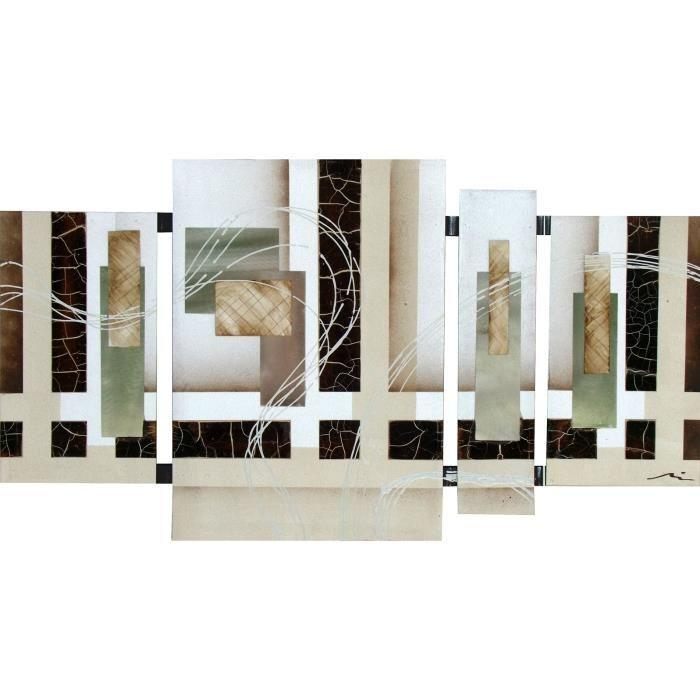flower tableau multi panneaux toile peinte a la main 50x90. Black Bedroom Furniture Sets. Home Design Ideas