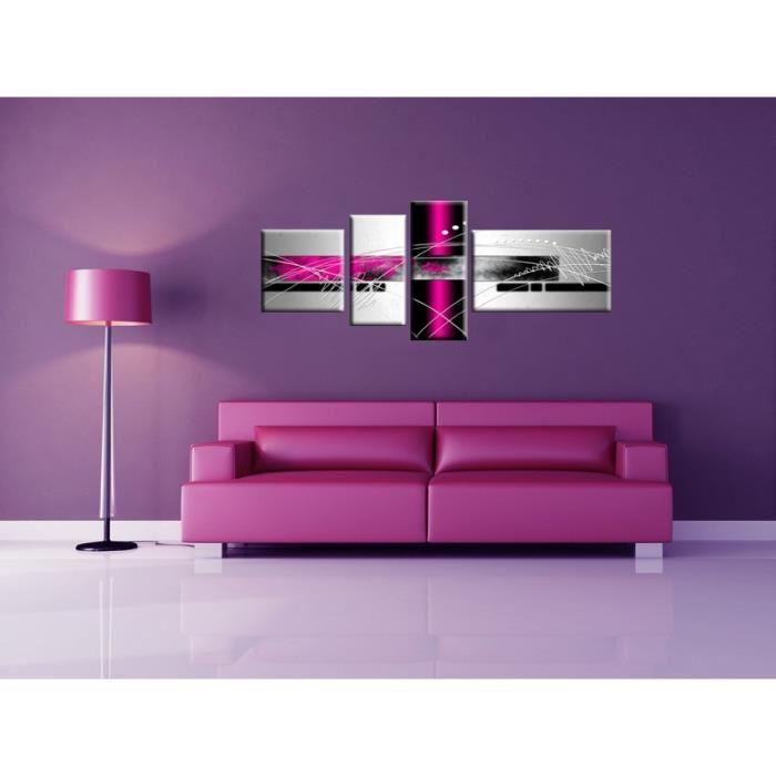 aucune force tableau multi panneaux abstrait 160x60 cm violet 256112. Black Bedroom Furniture Sets. Home Design Ideas