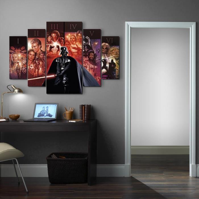 aucune star wars set de 5 toiles imprim es groupe 150x100 cm rouge 347915. Black Bedroom Furniture Sets. Home Design Ideas