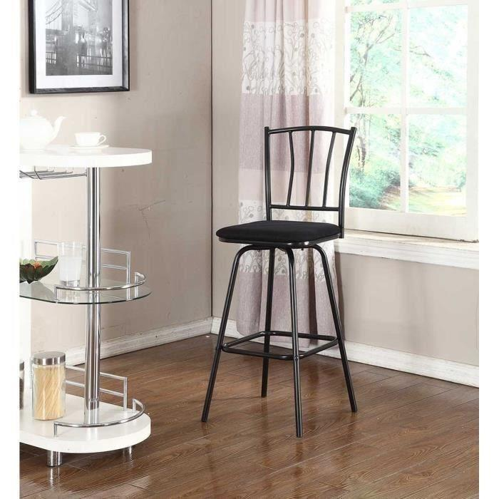 aucune bistrot tabouret de bar assise noire pivotante 311588. Black Bedroom Furniture Sets. Home Design Ideas
