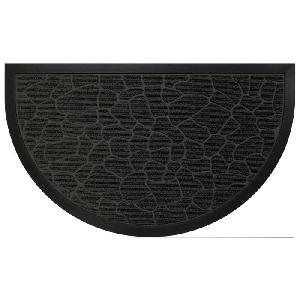 aucune tapis d 39 entree 45x75cm demi lune galets noir 256688. Black Bedroom Furniture Sets. Home Design Ideas