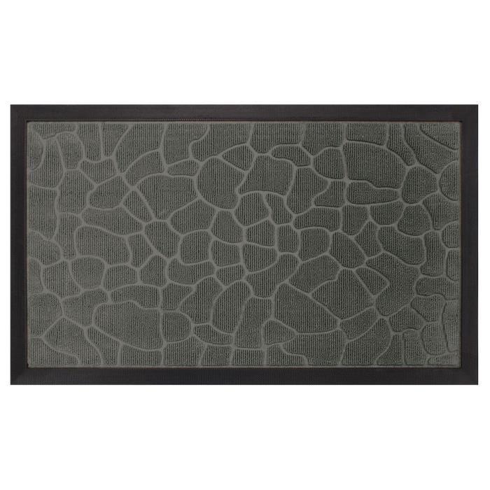aucune tapis d 39 entr e 45x75cm carreaux gris 256673. Black Bedroom Furniture Sets. Home Design Ideas
